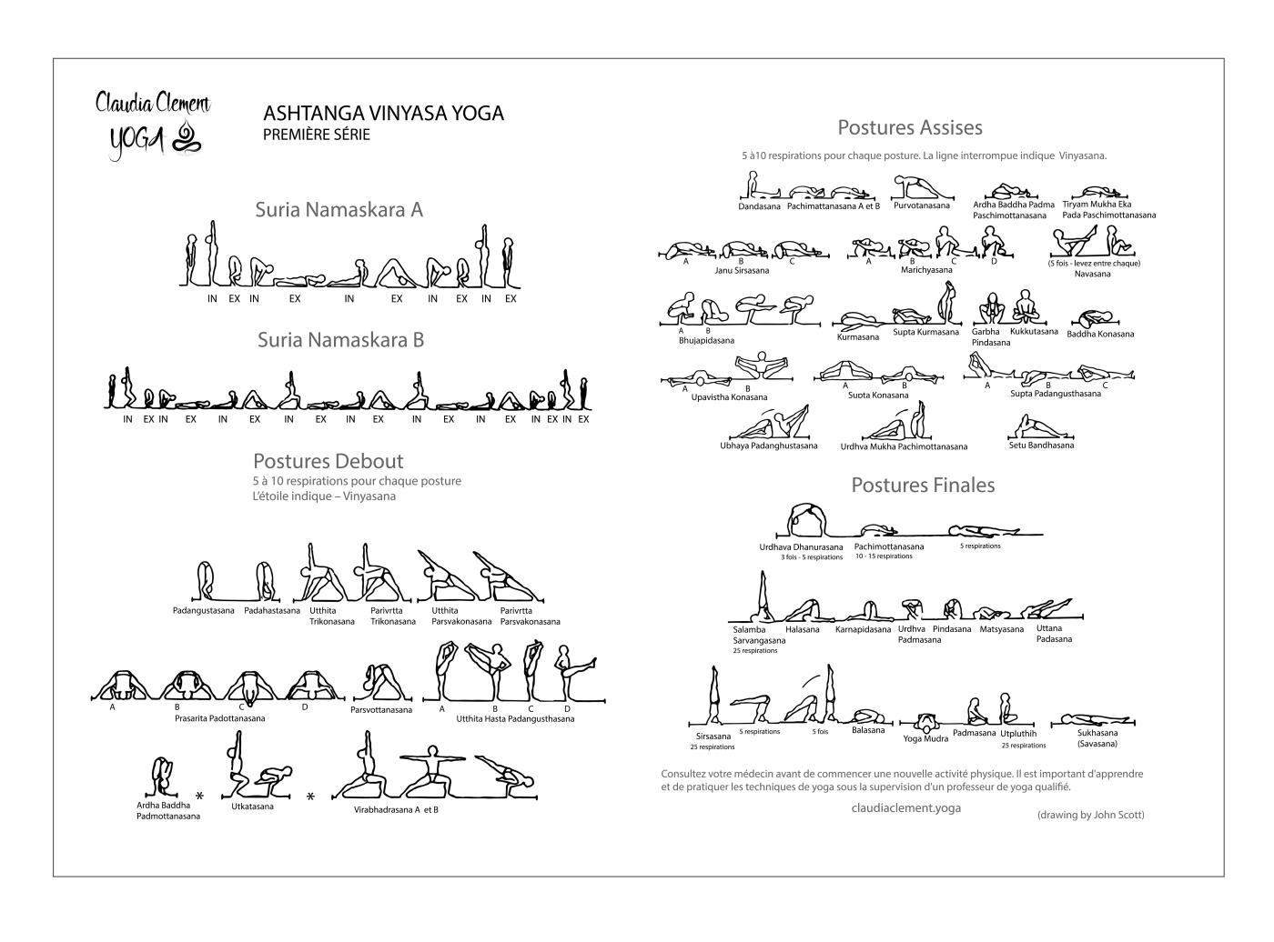 ashtanga vinyasa yoga, la premiere serie